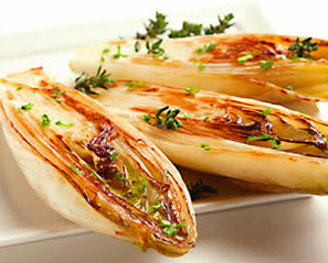 Endive with Thyme, Garlic & Olive Oil