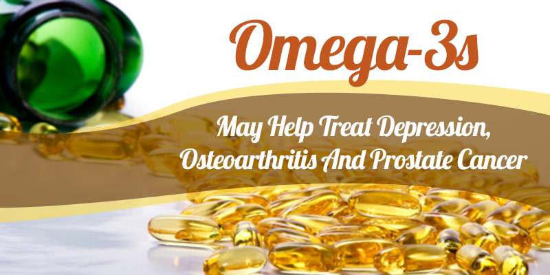 Omega 3s may help treat depression osteoarthritis and for Fish oil prostate cancer