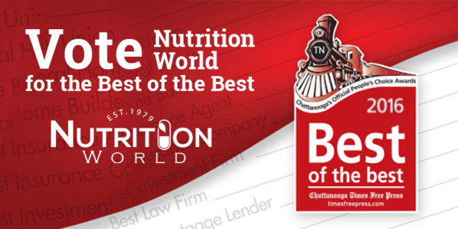 Vote Nutrition World in Best of the Best