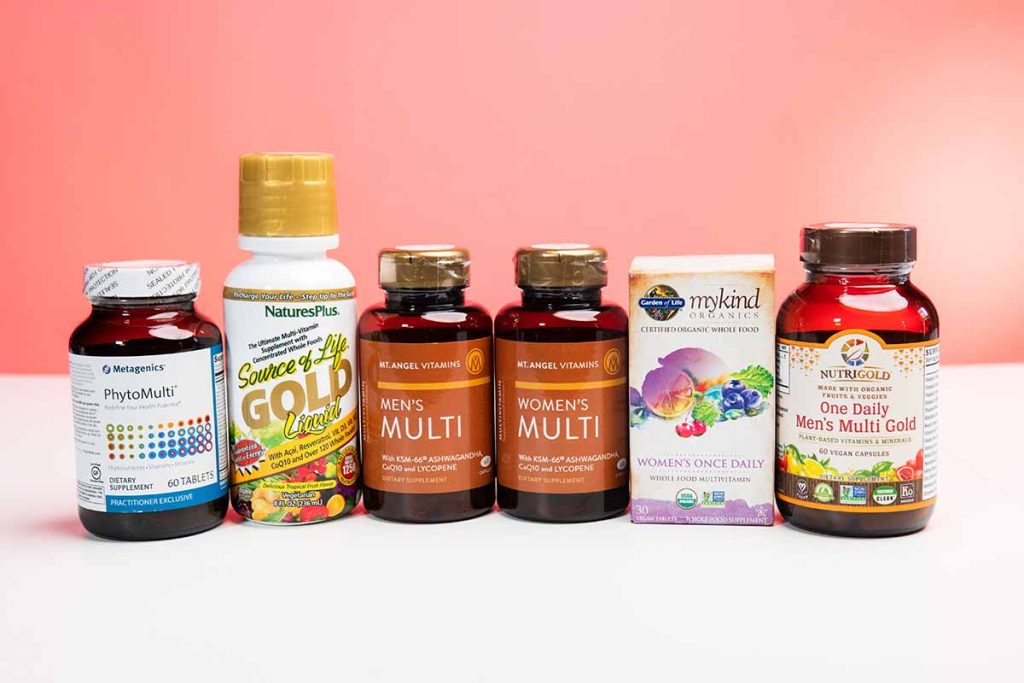 Multivitamin products in their bottles that come in Core 4 autoship