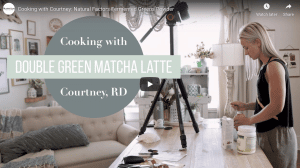 Registered Dietician Courtney McMahan makes a matcha latte