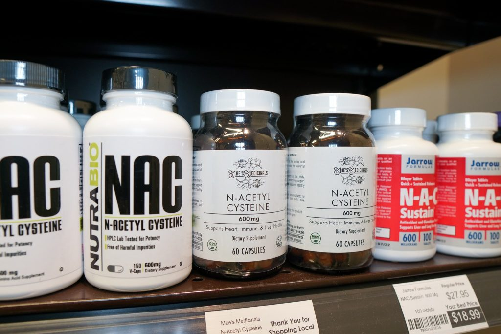 NAC Supplement products on nutrition world store shelves