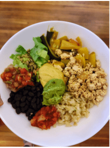 vegan dinner bowl